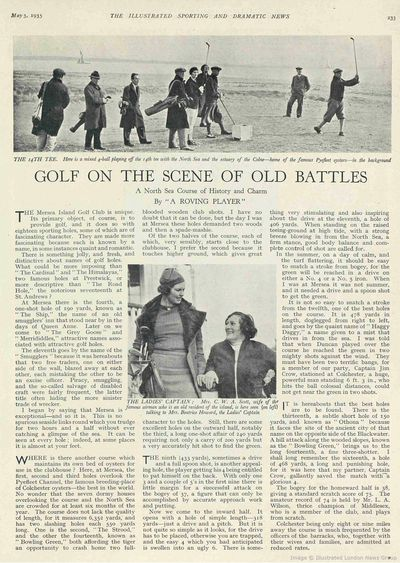 Mersea Island Golf Club, Essex. Article from The Illustrated Sporting News May 1935.