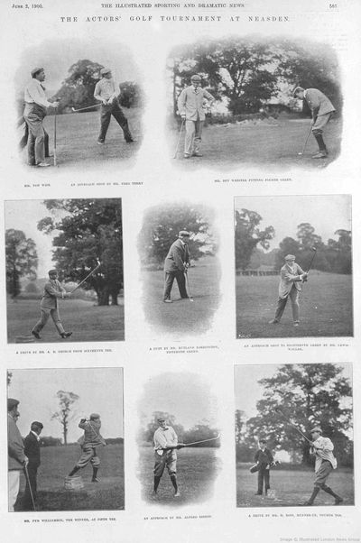 Neasden Golf Club, London. The Actors' Golf Tournament June 1900.
