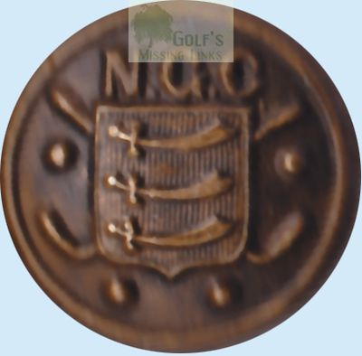 Neasden Golf Club, London. Club button.