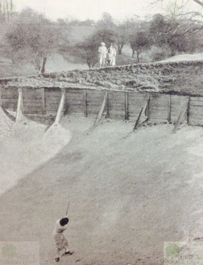 Neasden Golf Club, London. Bunker on the ninth-hole 1920s.