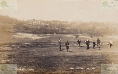 Old Manchester Golf Club. Rare image of players on the Broughton course.