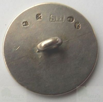 Old Manchester Golf Club. Early club button (rear).