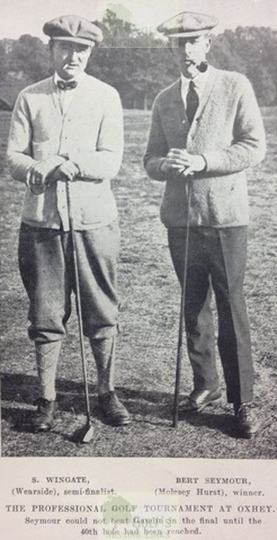 Molesey Hurst Golf Club, London. Bert Seymour at the 1921 News of the World Tourney.