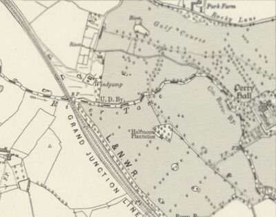 Perry Hall Golf Club, Perry Barr, Birmingham. Course on the 1921 O.S map.