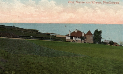 Portishead Golf Club, Bristol. The clubbouse and course.