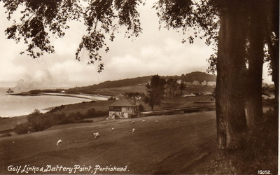 Portishead Golf Club, Bristol. Links and Battery Point.