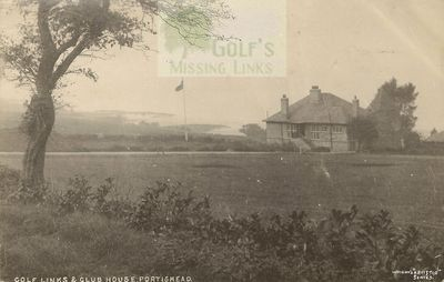 Portishead Golf Club, Bristol. Course and clubhouse.