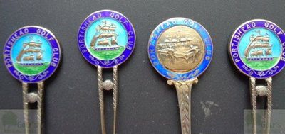 Portishead Golf Club, Bristol. Portishead Golf Club Competition spoons dated 1910/1913