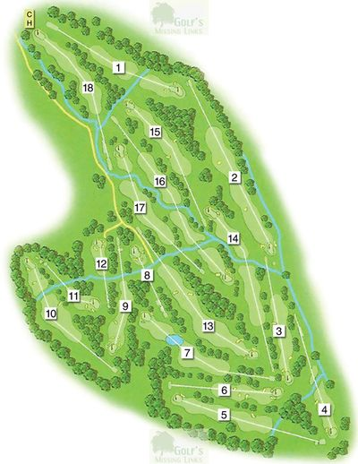 Potters Bar Golf Club, Darkes Lane. Layout of the 18-hole golf coures.