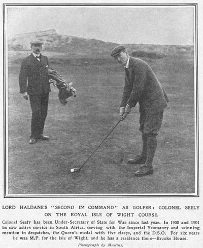 Royal Isle of Wight Golf Club, The Duver, St Helen's. Article from The Sketch January 1912.