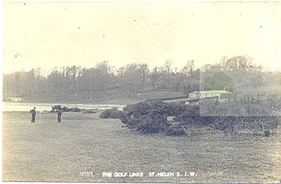 Royal Isle of Wight Golf Club, Bembridge. Early postcard of the corse.