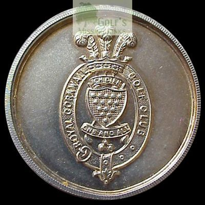 Royal Cornwall Golf Club, Bodmin. Competition medal.