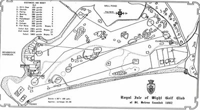 Royal Isle of Wight Golf Club, Bembridge. Course layout.