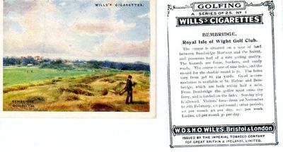 Royal Isle of Wight Golf Club, Bembridge. Wills Cigarette Card.