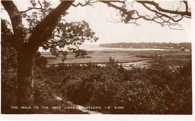 Royal Isle of Wight Golf Club, Bembridge. The golf links.