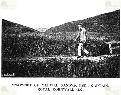 Royal Cornwall Golf Club, Bodmin. Captain at the turn of the century.
