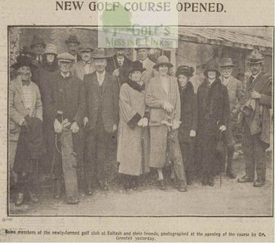 Saltash Golf Club, Cornwall. Members at the opening.
