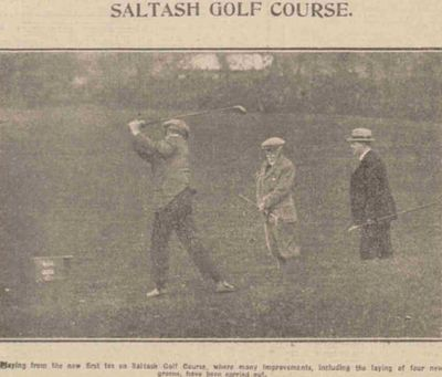 Saltash Golf Club, Cornwall. Playing on the improved course in April 1925.