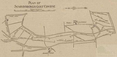 Scarborough Town Golf Club. Layout of the course in 1903.