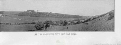 Scarborough Town Golf Club, Yorkshire. View of the course from 1914.