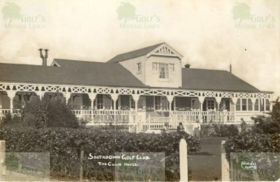 Southdown Golf Club, Shoreham-by-Sea. The early clubhouse.