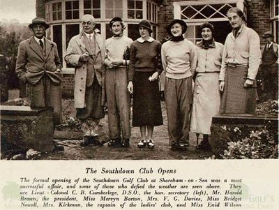 Southdown Golf Club, Sussex. Opening of the course in 1935.