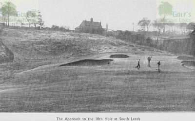 South Leeds Golf Club, Beeston Course. Approach to the eighteenth hole at South Leeds in 1923.