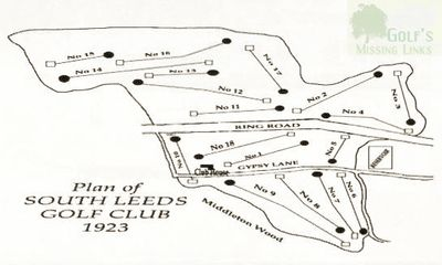 South Leeds Golf Club, Beeston Course. Layout of the new course in 1923.