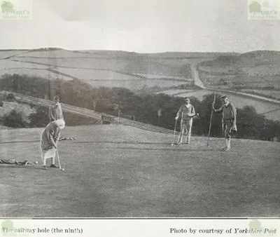 South Leeds Golf Club, Beeston Course. The railway hole, the ninth, in 1923.