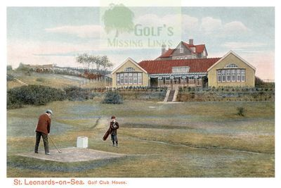 St Leonards Golf Club, Hastings, Sussex. The clubhouse.