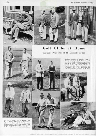 St Leonards Golf Club, Hastings, Sussex. Article from The Bystander September 1934.