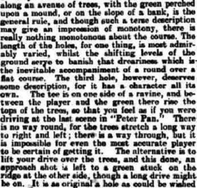 Studley Royal Golf Club, Ripon. Article from the Newcastle Daily Chronicle 6 July 1907.