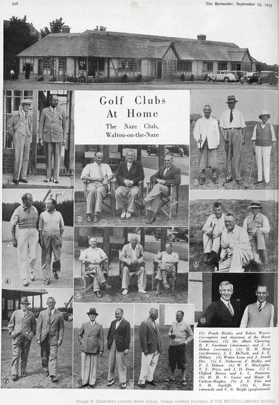 The Naze Golf Club, Walton-on-the-Naze, Essex. Article from the Bystander in September 1935.
