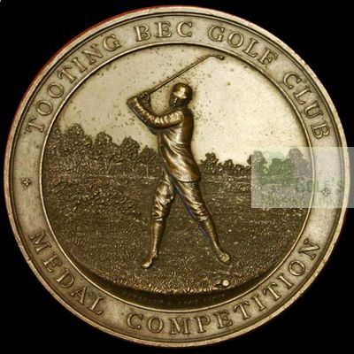 Tooting Bec Golf Club, London. Competition medal.