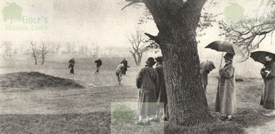 Tooting Bec Golf Club, Mitcham Common. The ninth hole in the 1920s.