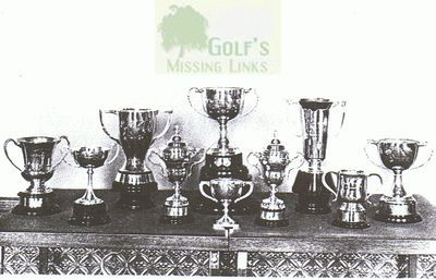 Torbay Golf & Country Club, Paignton. Golf Club Trophies.