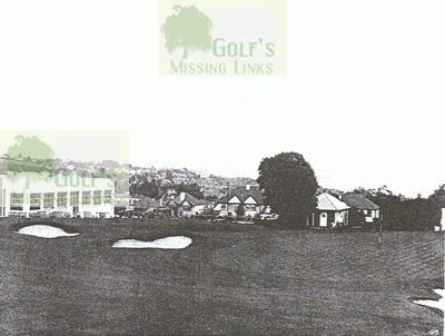 Torbay Golf & Country Club, Paignton. The clubhouse and eighteenth green.