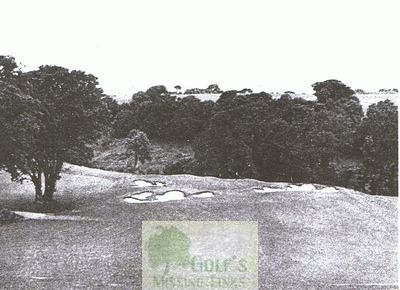 Torbay Golf & Country Club, Paignton. The heavily bunkered fourth green.