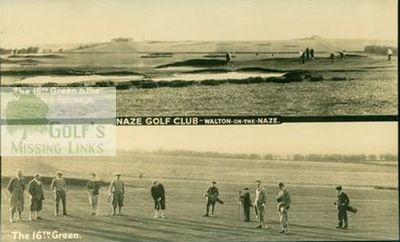 Walton-on-the-Naze Golf Club, Essex. Two views of the course.