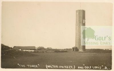 Walton-on-the-Naze Golf Club, Essex. The Tower and golf links.