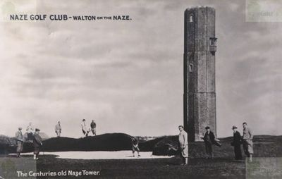 The Naze Golf Club, Walton-on-the-Naze, Essex. The centuries old Naze Tower.