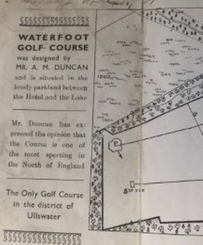 Waterfoot Hotel Golf Course, Ullswater, Cumbria. Layout of the nine-hole golf course.