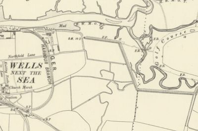 Wells-Next-The- Sea Golf Club, Norfolk. The golf course on the 1907 O.S. map.