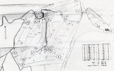 West Cheshire Golf Club. Pre-WW2 course layout.