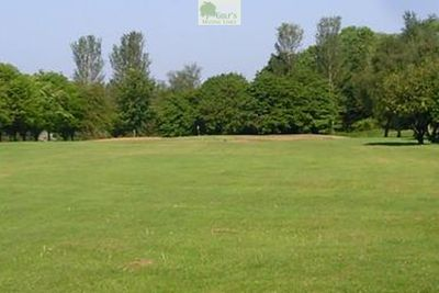 Western Park Golf Club, Leicester. Approach to the first hole.