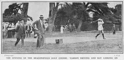 Wilton Park Golf Club, Beaconsfield. The opening of the Beaconsfield Golf Course in July 1914.