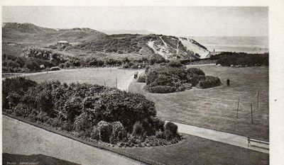 Woolacombe Bay Golf Club, Devon. View of the course in 1904.