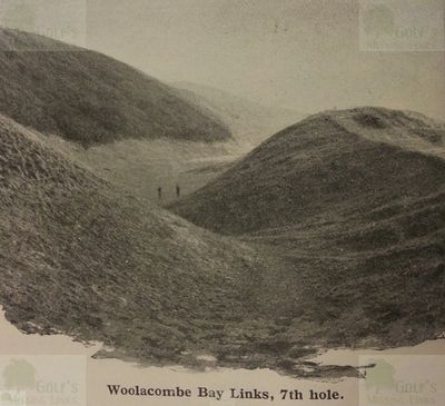 Woolacombe Bay Golf Club, Mortehoe, Devon. The seventh hole.