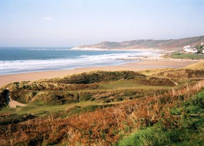 Woolacombe Bay Golf Club, Devon. The derelict golf course in 2003.