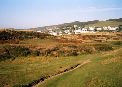 Woolacombe Bay Golf Club, Devon. View of the former golf course.